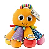 1 Piece 7.8 Inch Orange Color Octotunes Animal Stuffed Plush Toy, Kids Boys Girls Small Size Cute Cuddly Octopus Toy Eight Floppy Legs Plays Music Soft Toy Fluffy Huggable Lavender Navy Multi, Fabric