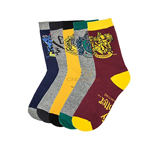Set of 5 Harry Potter House Crest Socks