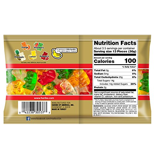 Haribo Gold-Bears 3.5 oz. Share Bag, (Pack of 18) by Haribo (Image #2)