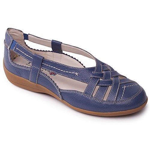 Padders Denim À Delta Mesdames Bleu Extra Chaussures Enfiler En Large Cuir rrAB4q