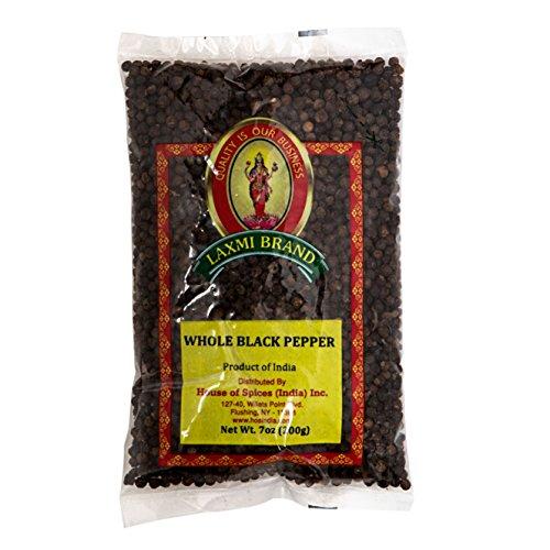 (Laxmi Premium Whole Black Peppercorns (Tellicherry) - 7 oz)