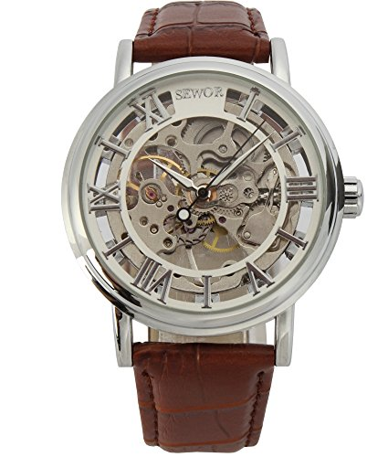 SEWOR Mechanical Skeleton Transparent Vintage