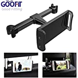 GOOFIT Car Headrest Mount,Tablets Car Holder Back Seat Bracket for iPad Mini Air Pro,Phones, Samsung Galaxy,Amazon Kindle Fire HD, 4'' to 10'' Devices (black)
