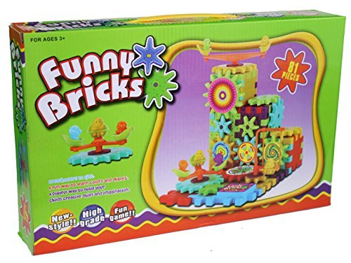 Gears Gizmos (Funny Bricks - Motorized Building Block & Gears game)