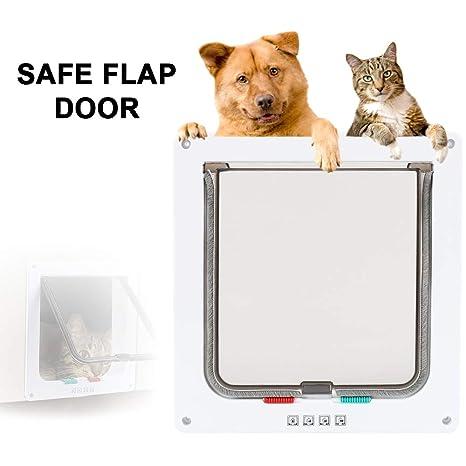 ZhongYe Gatos Puerta Mascotas Tapa Perros Tapa con Chip para ...