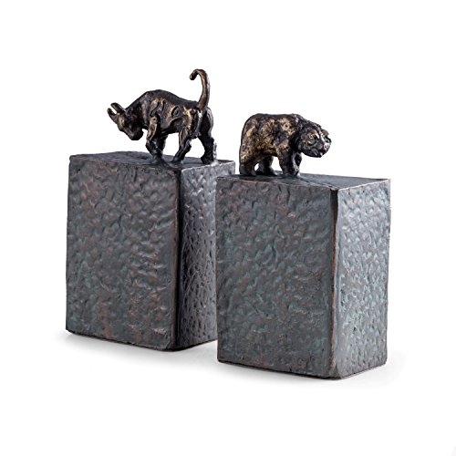 Paloma Collection AJ-R11S Bull & Bear Bookends, Metal, used for sale  Delivered anywhere in USA