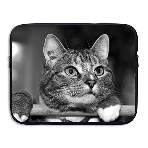OUSIAI Cat Laptop Sleeves for 13 Inch 2017 MacBook Pro Touch Bar,12.9 Inch iPad Pro 2017,Surface Laptop,Shockproof Spill-Resistant 13 Inch Laptop Bag Case, Black