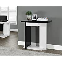 Glossy White/Black Hall Console Accent Sofa Table with Drawer