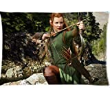 Custom Evangeline Lilly As Tauriel The Hobbit Pillowcase Rectangle Zippered Two Sides Design Printed 20x30 Pillow Case Cover