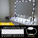 Hollywood Vanity Mirror Lights, Makeup Vanity Led Mirror Light Kits, Lighting Fixture Strip Sets with Rotate Dimmer and Power Supply for Bathroom Dressing Table 60 Leds 19.7ft/6M (Mirror not Include)