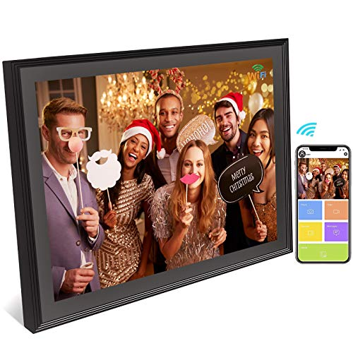 WiFi Digital Picture Frame Touch Screen10 inch -Digital Photo Frame Classic Unlimited Cloud Storage Auto-Rotate HD Smart Electronic Picture Frame Wireless Share Photos & Videos via App/Email Instantly