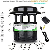RockBirds Mosquito Killer Lamp and Bug Zapper, Indoor Fly Trap, Control with Stand LED Light Mosquitoes, Wasps, Etc. – Pe...