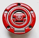 (US) Yamaha YZF R1 R6 FZ1 FZ8 FZ6 FJR1300 Glossy RED Fuel Tank Cap Filler Cover Pad