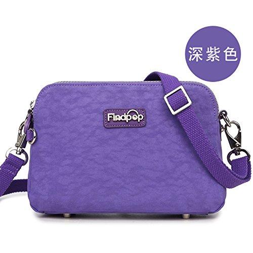 Bag Leisure Zazero purple European Satchel shell Canvas Deep simple Lady Bag 1q1XwPnB