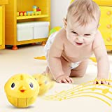 Toddlers Musical Toys Push and Go Rolling Ball Crawling Roly Poly Tumbler by Peradix, Make Different Sounds n Music When Push or Shake (Yellow)