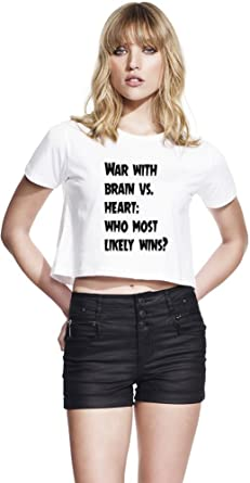 2d421b04b23e War with brain vs. heart  who most likely wins  Womens Continental Cropped  Jersey Large  Amazon.co.uk  Clothing