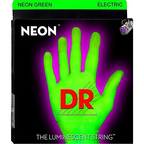 DR Strings Hi-Def NEON Green Coated Lite 7-String Electric G