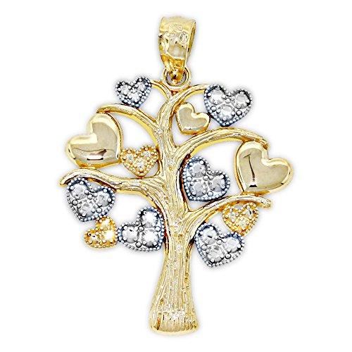 (Charm America - Gold Tree of Life Charm - 14 Karat Solid Gold)