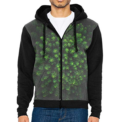 Trees Forest Top View Green Fashion Hoodies Men