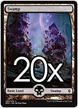 20 Battle for Zendikar Swamp # 260 MTG Basic Full Art Land Lot Magic