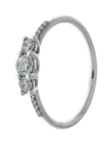 29a80e745 Amazon.com: PANDORA Fairytale Sparkle Ring, Clear CZ 196242CZ-58 EU 8.5 US:  Jewelry