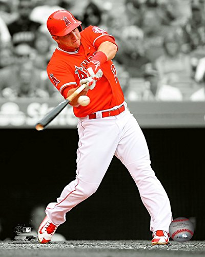 Los Angels Angeles Photograph (Mike Trout Los Angeles Angels 2015 MLB Spotlight Action Photo (Size: 11