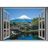 お風呂ポスター 富士山 【日本製】【3Dおふろの窓ポスター 富士山の風景】