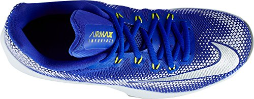 NIKE Herren Air Max Infuriate Low Basketballschuh Blau Weiss