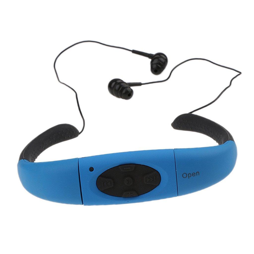MagiDeal Impermeable IPX8 MP3 Auriculares Deportivos con Memoria Incorporada de 4/8 GB - 8G Blanco