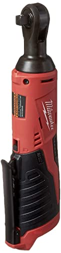Milwaukee 2457-20 M12 Cordless 3 8 Sub-Compact 35 ft-Lbs 250 RPM Ratchet w Variable Speed Trigger Battery Not Included, Power Tool Only
