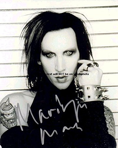 Marilyn Manson Autographed Preprint Signed 11x14 Poster Photo