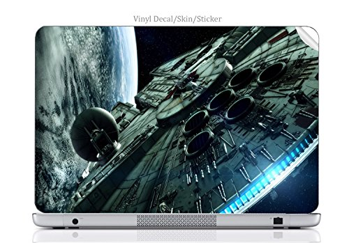 Laptop VINYL DECAL Sticker Skin Print Space Station fits 15.6
