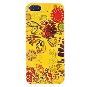 CL - Exquisito estuche rígido flor de naranja de flash polvo para el iphone 5/5s
