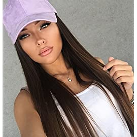 FUHSI Kanekalon Fiber 13×6 Inch Lace Real Natural For Women – Soft & Smooth, Straight Lace Front Wig, Elastic Straps…