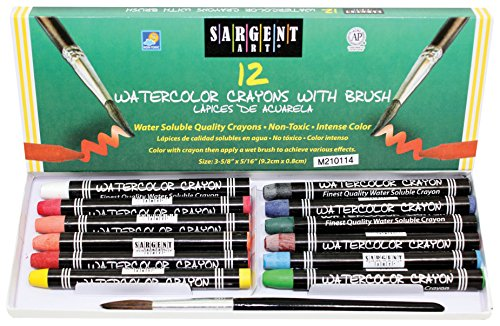 Sargent Art 22-1112 12-Count Water Color-Crayons with Brush ()