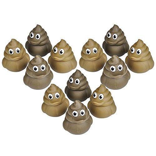 12 Poop Rubber Duckies (2