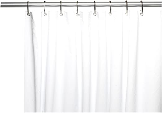 Carnation Home Fashions 72 by 84-Inch Waterproof Vinyl Shower Curtain...