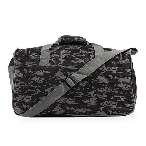 51dqlscl7AL - Fila Source Sm Travel Gym Sport Duffel Bag, Black Digi Camo