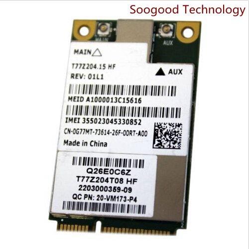 Mini Pcie Dell Dw5630 Qualcomm Gobi 3000 3g Wwan Wireless Ca