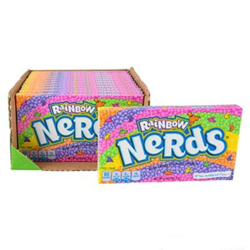 Nerds Rainbow Theater Box Candy, Multicolored. Twelve 5oz Boxes. -