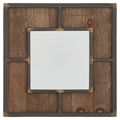 Stone & Beam Square Wood Quadrant Mirror