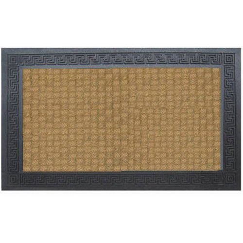 - Bacova Guild 06091E Floor Dimensions Natural Clean Door Mat with Scroll Border, 30