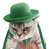 FOMATE Green Hat Costumes for Saint Patricks Day (Cat)