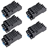 uxcell 5 Pcs 14 Terminals Rail Mounted Power Relay Socket Base DYF-14A for MY4-J