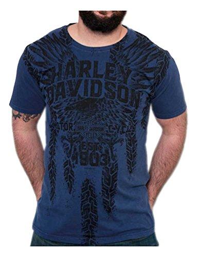 Blue Apparel Royal (Harley-Davidson Men's Pathways Premium Short Sleeve T-Shirt, Royal Washed (3XL))