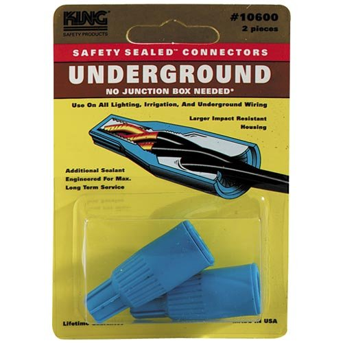 King Innovation 62225 DryConn Outdoor Electrical Wire Connector 20/Bag, Aqua/Red (Voltage Wire)
