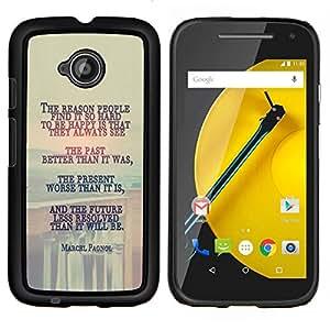 LECELL--Funda protectora / Cubierta / Piel For Motorola Moto E2 E2nd Gen -- Marcel Pagnol MENSAJE PROFUNDO --