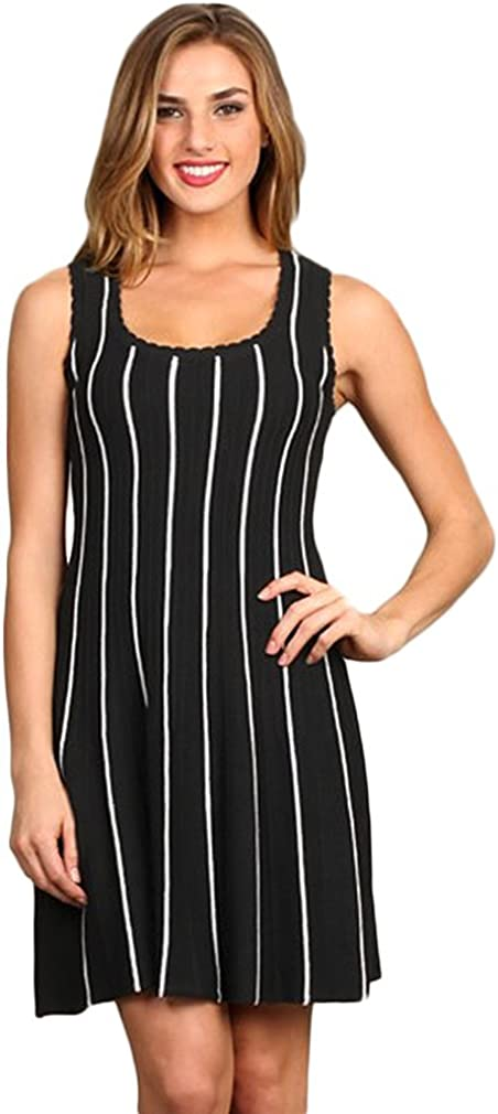 Ribbed Scoop Neck Dress