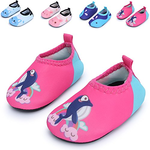 Baby Water Skin Shoes Beach Sandals for Baby Girls and Boys for Beach Pool Swimming,Pink Dophin 0-6 Months