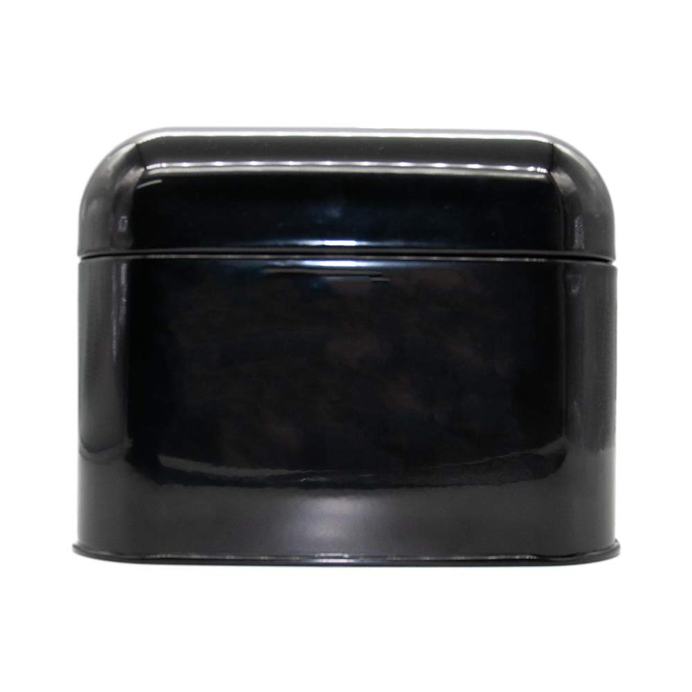 Calitek Vintage Style Kitchen Counter Top Bread Bin-Black